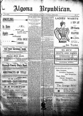 The Algona Republican from Algona, Iowa on July 18, 1894 · Page 1