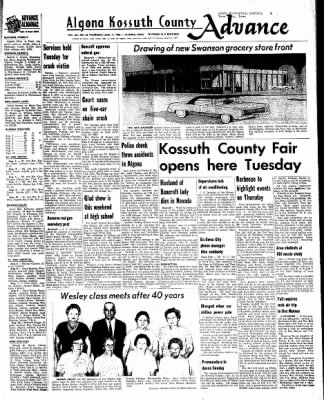 Kossuth County Advance from Algona, Iowa on August 11, 1966 · Page 1