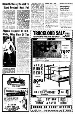 The Algona Upper Des Moines from Algona, Iowa on March 1, 1966 · Page 5