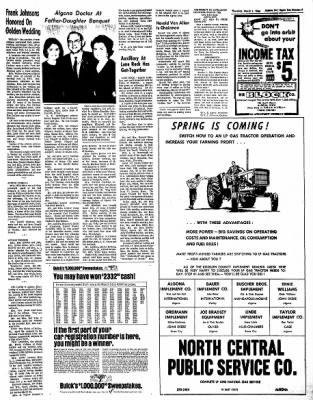 The Algona Upper Des Moines from Algona, Iowa on March 3, 1966 · Page 7