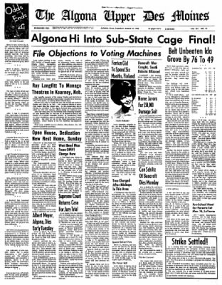 The Algona Upper Des Moines from Algona, Iowa on March 10, 1966 · Page 16