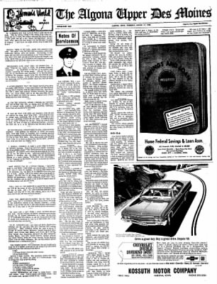 The Algona Upper Des Moines from Algona, Iowa on March 17, 1966 · Page 9