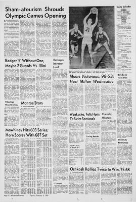 Waukesha Daily Freeman from Waukesha, Wisconsin on February 6, 1968 · Page 12