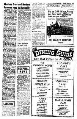The Algona Upper Des Moines from Algona, Iowa on March 22, 1966 · Page 6