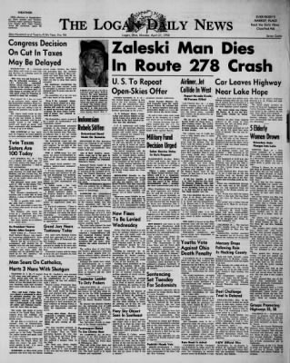 The Logan Daily News from Logan, Ohio on April 21, 1958 · Page 1
