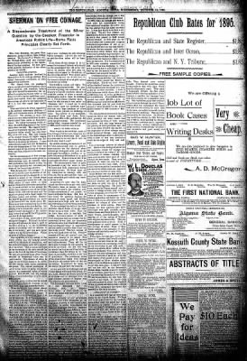 The Algona Republican from Algona, Iowa on October 31, 1894 · Page 5