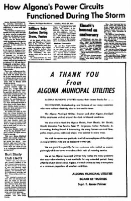 The Algona Upper Des Moines from Algona, Iowa on March 29, 1966 · Page 6