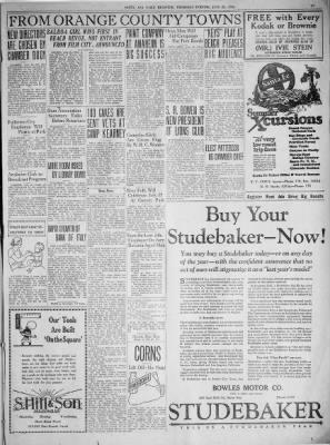 Santa Ana Register from Santa Ana, California on June 25, 1925 · Page 17
