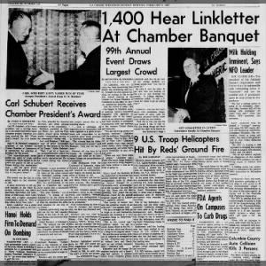 1967 Chamber Unites Record 1400 for Annual Dinner