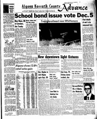 Kossuth County Advance from Algona, Iowa on September 26, 1966 · Page 1