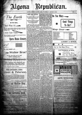 The Algona Republican from Algona, Iowa on January 9, 1895 · Page 1