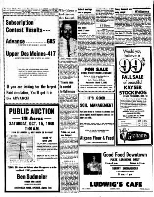 Kossuth County Advance from Algona, Iowa on October 13, 1966 · Page 4