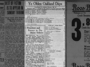 statistics as to present membership No. 46 Ye Olden Oakland Days TO BLOG