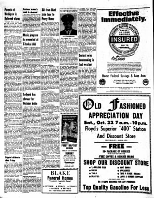Kossuth County Advance from Algona, Iowa on October 20, 1966 · Page 6