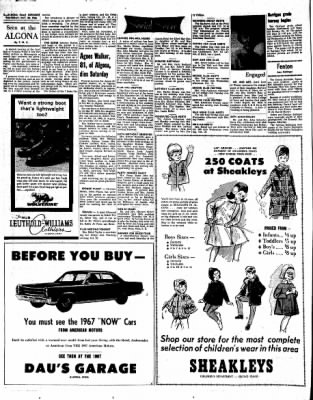 Kossuth County Advance from Algona, Iowa on October 20, 1966 · Page 8