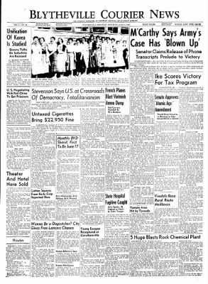 The Courier News from Blytheville, Arkansas on June 5, 1954 · Page 1