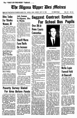 The Algona Upper Des Moines from Algona, Iowa on May 10, 1966 · Page 1