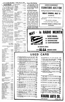 The Algona Upper Des Moines from Algona, Iowa on May 10, 1966 · Page 4