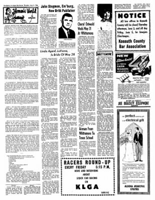 The Algona Upper Des Moines from Algona, Iowa on June 2, 1966 · Page 10