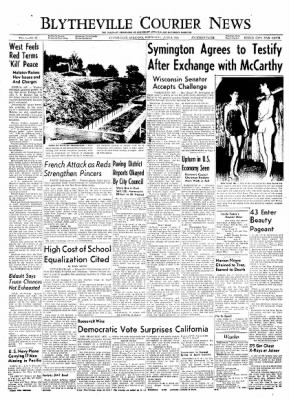 The Courier News from Blytheville, Arkansas on June 9, 1954 · Page 1