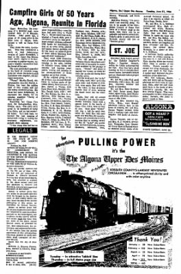 The Algona Upper Des Moines from Algona, Iowa on June 21, 1966 · Page 9