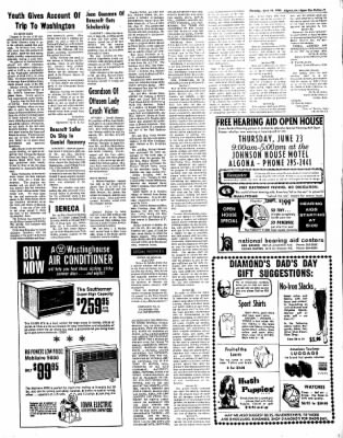 The Algona Upper Des Moines from Algona, Iowa on June 16, 1966 · Page 9