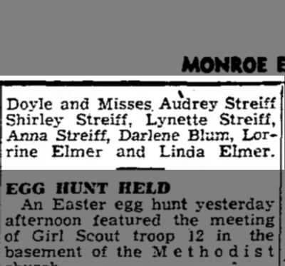 Part 2 - March 21, 1951 - Doyle and Misses Audrey Streiff Shirley...