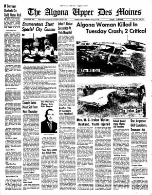 The Algona Upper Des Moines from Algona, Iowa on June 23, 1966 · Page 1