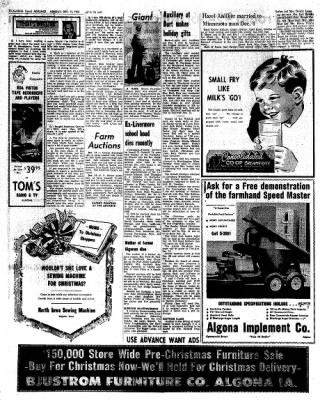Kossuth County Advance from Algona, Iowa on December 12, 1966 · Page 6