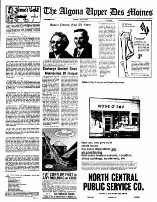 The Algona Upper Des Moines from Algona, Iowa on June 23, 1966 · Page 9