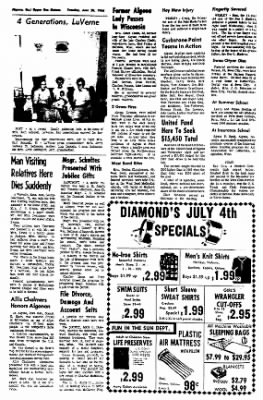 The Algona Upper Des Moines from Algona, Iowa on June 28, 1966 · Page 2