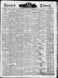 Sample Record of the Times front page