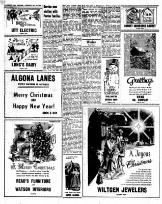 Kossuth County Advance from Algona, Iowa on December 21, 1966 · Page 12
