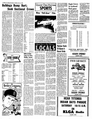 The Algona Upper Des Moines from Algona, Iowa on July 14, 1966 · Page 6