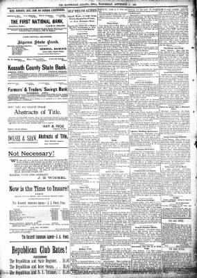 The Algona Republican from Algona, Iowa on September 11, 1895 · Page 8