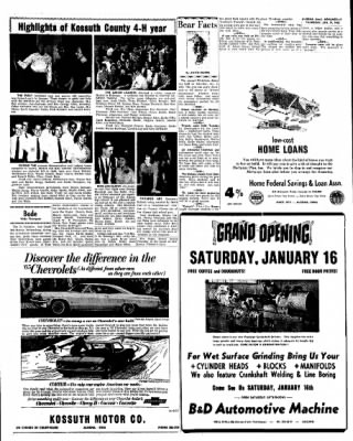 Kossuth County Advance from Algona, Iowa on January 14, 1965 · Page 15