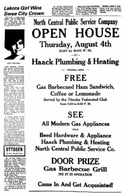 The Algona Upper Des Moines from Algona, Iowa on August 2, 1966 · Page 6