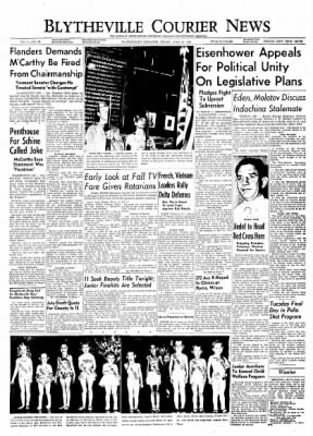 The Courier News from Blytheville, Arkansas on June 11, 1954 · Page 1