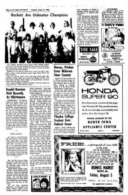 The Algona Upper Des Moines from Algona, Iowa on August 2, 1966 · Page 13
