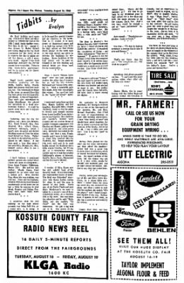 The Algona Upper Des Moines from Algona, Iowa on August 16, 1966 · Page 6