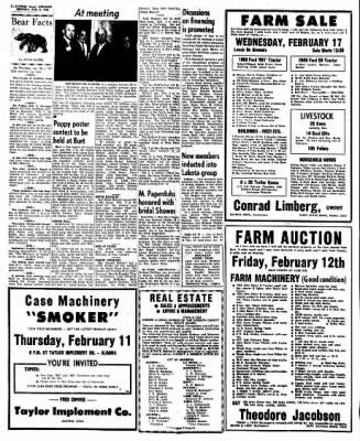 Kossuth County Advance from Algona, Iowa on February 8, 1965 · Page 6