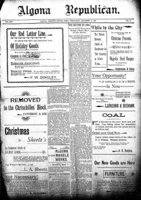 The Algona Republican from Algona, Iowa on December 11, 1895 · Page 1