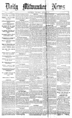The Daily Milwaukee News from Milwaukee, Wisconsin on April 27, 1865 · Page 1