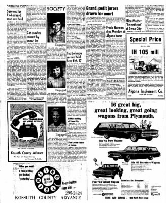 Kossuth County Advance from Algona, Iowa on February 18, 1965 · Page 2