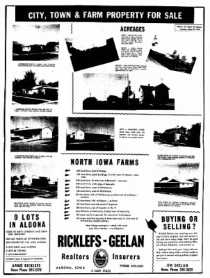The Algona Upper Des Moines from Algona, Iowa on August 30, 1966 · Page 8