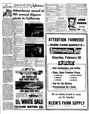 Kossuth County Advance from Algona, Iowa on February 18, 1965 · Page 9