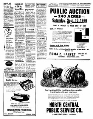 The Algona Upper Des Moines from Algona, Iowa on September 8, 1966 · Page 15
