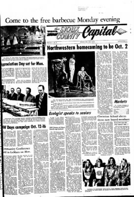 The Sioux County Capital from Orange City, Iowa on September 23, 1971 · Page 1