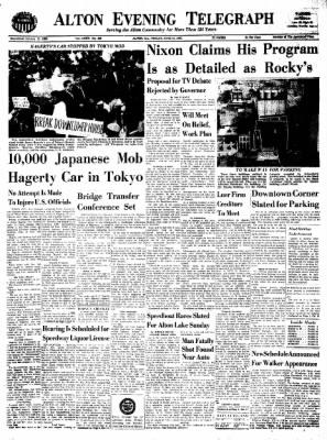 Alton Evening Telegraph from Alton, Illinois on June 10, 1960 · Page 1