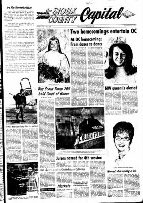 The Sioux County Capital from Orange City, Iowa on October 7, 1971 · Page 1